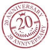 aniversario 20 Imagen de archivo libre de regalías