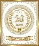 Aniversario 20 ilustración del vector