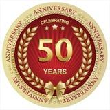 Aniversario 50 años, cumpleaños, fondo, celebración, tarjeta de felicitación Ilustración del vector libre illustration
