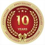 Aniversario 10 años, cumpleaños, fondo, celebración, tarjeta de felicitación Ilustración del vector libre illustration