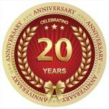 Aniversario 20 años, cumpleaños, fondo, celebración, tarjeta de felicitación Ilustración del vector ilustración del vector