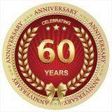 Aniversario 60 años, cumpleaños, fondo, celebración, tarjeta de felicitación Ilustración del vector stock de ilustración