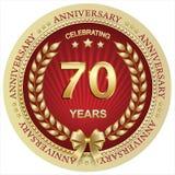 Aniversario 70 años, cumpleaños, fondo, celebración, tarjeta de felicitación Ilustración del vector libre illustration