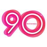 Aniversario colorido de 90 fotografía de archivo