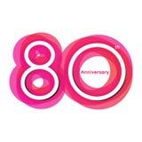 Aniversario colorido de 80 fotografía de archivo