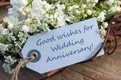 Aniversario de boda Imágenes de archivo libres de regalías