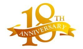 Aniversario de la cinta de 18 años stock de ilustración