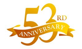 Aniversario de la cinta de 53 años ilustración del vector