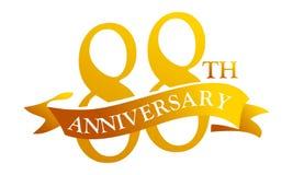 Aniversario de la cinta de 88 años ilustración del vector