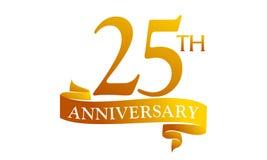 Aniversario de la cinta de 25 años ilustración del vector