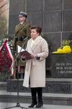 Aniversario de la sublevación del ghetto de Varsovia Imágenes de archivo libres de regalías