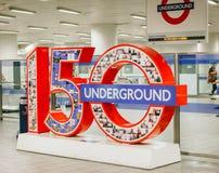 Aniversario del metro de Londres Imagen de archivo libre de regalías