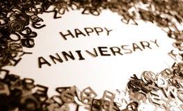 Aniversario feliz Imagen de archivo