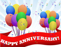 Aniversario feliz ilustración del vector
