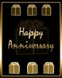 Aniversario feliz Imagen de archivo libre de regalías