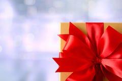 aniversario feliz Chri de la tarjeta de felicitación del día de fiesta de la Navidad de la caja de regalo Imagen de archivo