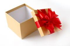 aniversario feliz Chri de la tarjeta de felicitación del día de fiesta de la Navidad de la caja de regalo Imagenes de archivo