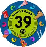 Aniversario 39.o Arte del ejemplo Fotografía de archivo libre de regalías