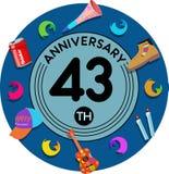 Aniversario 43o Arte del ejemplo Imagen de archivo