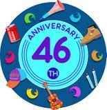Aniversario 46.o Arte del ejemplo Foto de archivo