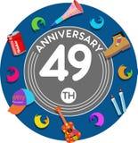Aniversario 49.o Arte del ejemplo Imagenes de archivo