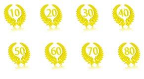 Aniversario part1 de la guirnalda del laurel Imágenes de archivo libres de regalías