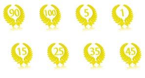 Aniversario part2 de la guirnalda del laurel Imagen de archivo