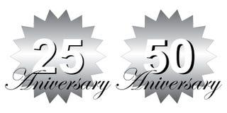 25 aniversary, 50 aniversary Royalty Free Stock Photo