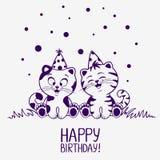 Aniversário dos gatinhos Imagem de Stock