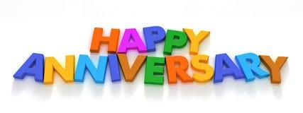Aniversário feliz em ímãs da letra de capital Fotos de Stock Royalty Free