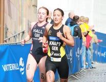 Anja Knapp i Lucy Hall Fotografia Stock