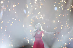 Anja Nissen από τη Δανία Eurovision 2017 Στοκ εικόνα με δικαίωμα ελεύθερης χρήσης