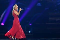 Anja Nissen από τη Δανία Eurovision 2017 Στοκ εικόνες με δικαίωμα ελεύθερης χρήσης