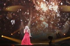 Anja Nissen από τη Δανία Eurovision 2017 Στοκ Φωτογραφίες