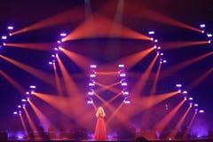 Anja Nissen από τη Δανία Eurovision 2017 Στοκ φωτογραφίες με δικαίωμα ελεύθερης χρήσης