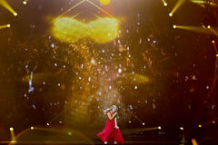 Anja Nissen από τη Δανία Eurovision 2017 Στοκ φωτογραφία με δικαίωμα ελεύθερης χρήσης