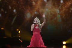 Anja Nissen from Denmark  Eurovision 2017 Stock Photo