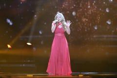 Anja Nissen from Denmark  Eurovision 2017 Royalty Free Stock Photo