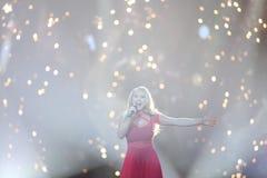 Anja Nissen from Denmark  Eurovision 2017 Royalty Free Stock Image