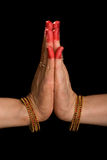 Anjali hasta of indian dance Bharata Natyam Royalty Free Stock Image