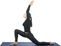 Anjaneyasana (Crescent Moon) Royalty Free Stock Photo