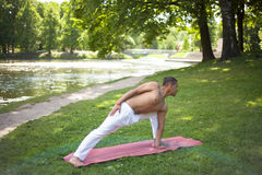 Anjaneyasana variation Stock Photo