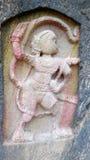 Anjaneyaswami岩石雕象 图库摄影