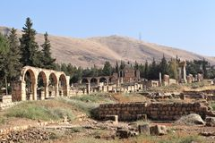 Anjar Libanon Arkivfoto