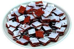 Anjeer of Fig. Burfi Indische snoepjes royalty-vrije stock fotografie