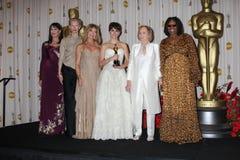 Anjelica Huston, Eva Marie Saint, Penelope Cruz, Tilda Swinton, Whoopi Goldberg, Pénélope Cruz, Eva Marie images stock