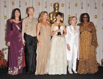Anjelica Huston, Heiliges Eva-Marie, Goldie Hawn, Penelope Cruz, Tilda Swinton, Whoopi Goldberg Stockbild