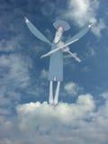 Anjo azul ilustração do vetor