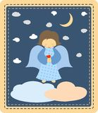 Anjo azul Fotografia de Stock Royalty Free
