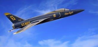 Anjo azul em voo imagem de stock royalty free